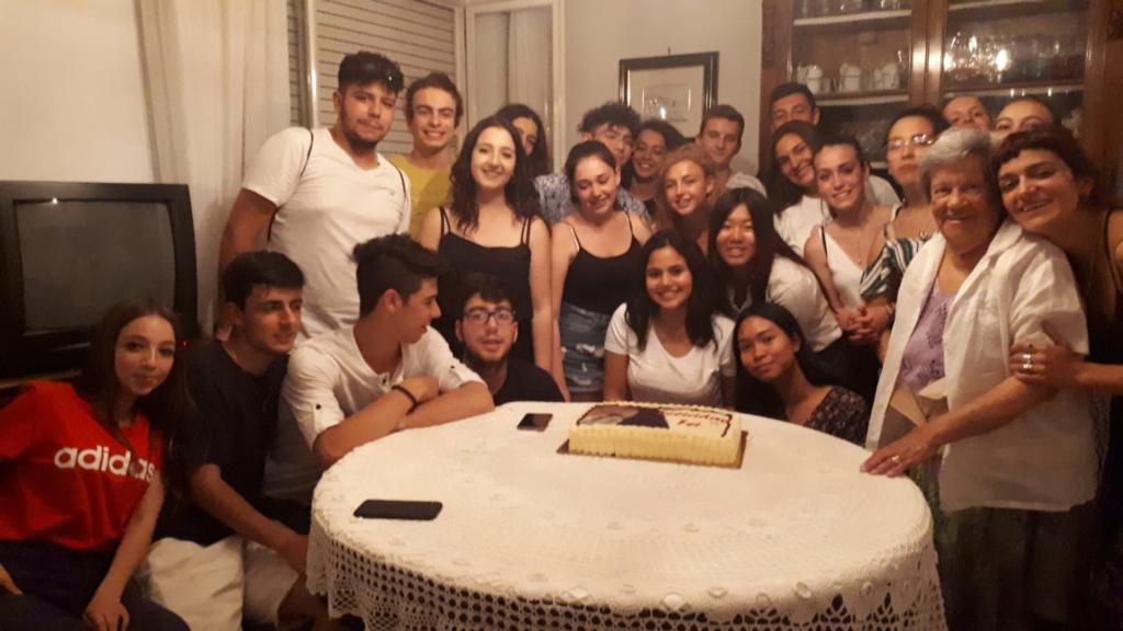 intercambio - Foto De La Familia Italiana Con La Estudiante De Intercambio En Rieti Italia