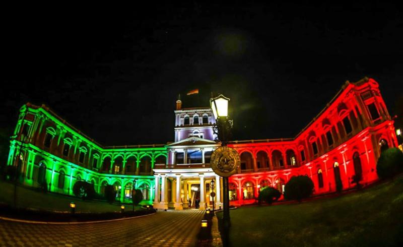 comunidad italiana - Palacio De López Bandera Italiana Presidencia De La República Del Paraguay