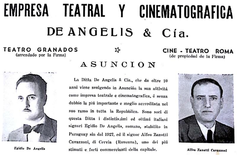 italianos en paraguay - Cine Y Teatro Roma
