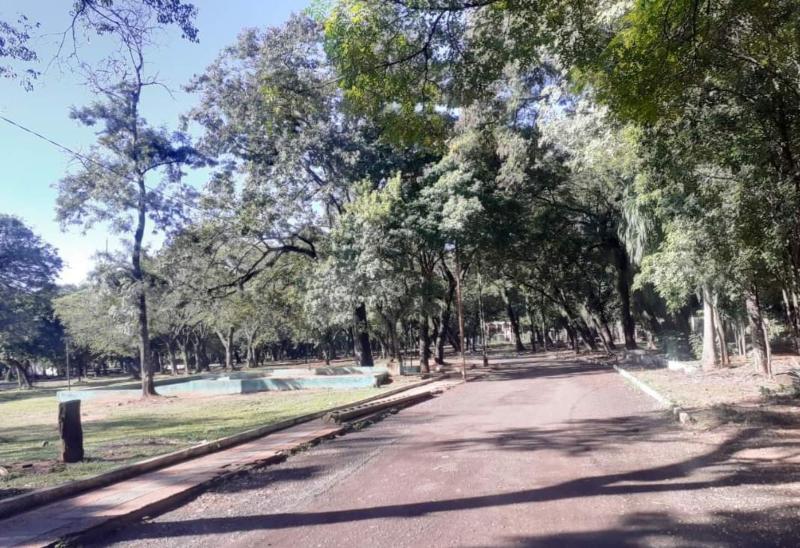 Interior Del Parque Caballero