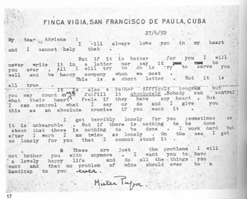 Adriana Ivancich - Carta De Eh A Adriana