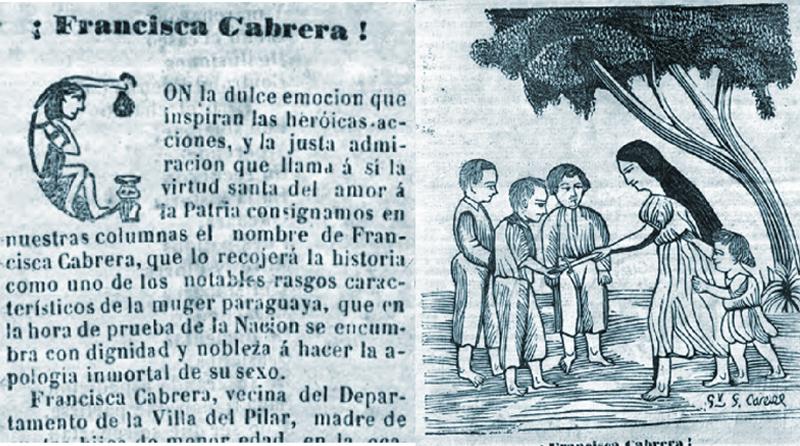 mujeres paraguayas - Grabado Sobre Francisca Cabrera