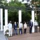 inmigrante - Autoridades en Plaza Italia