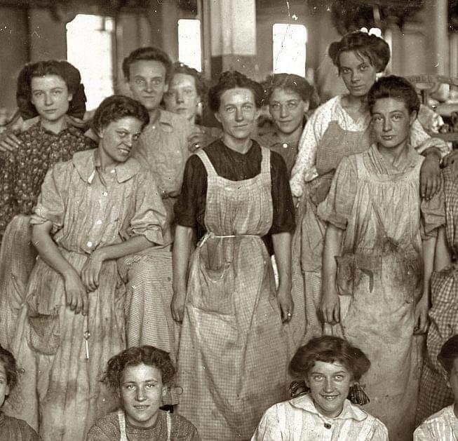 Mujeres que participaron de la huelga