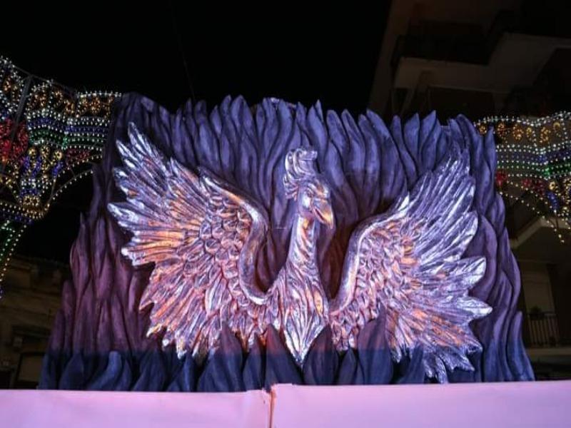 Araba Fenice Belpassese -Scena principale Carro di Borrello 2019