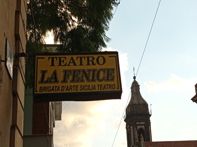 """Antonino Russo Giusti-Insegna del teatro """"La fenice"""""""