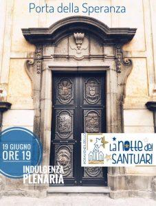 Porta della Speranza aperta lall'interno della basilica santuario Maria Santissima dell'Elemosina a Biancavilla