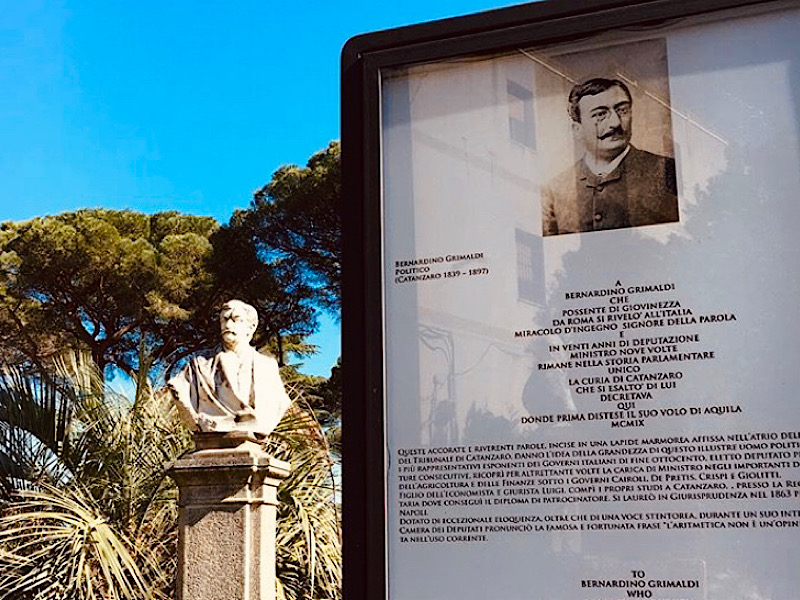Bernardino Grimaldi in Villa Margherita - matematica