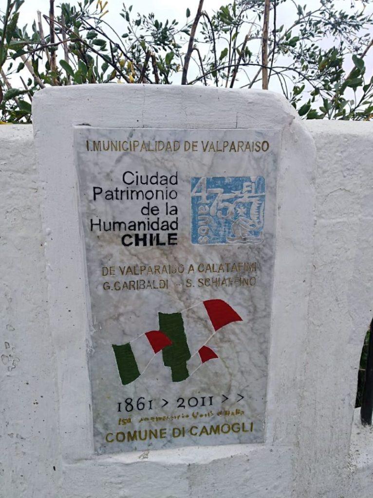Mirador Ciudad de Camogli - Placa