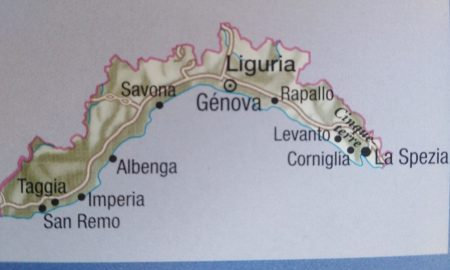 liguria - Mapa