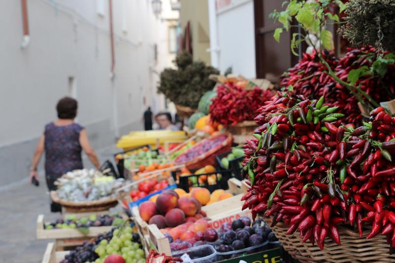 La ciudad de arte de San Severo - Imágenes de Productos Agrícolas de la Apulia.
