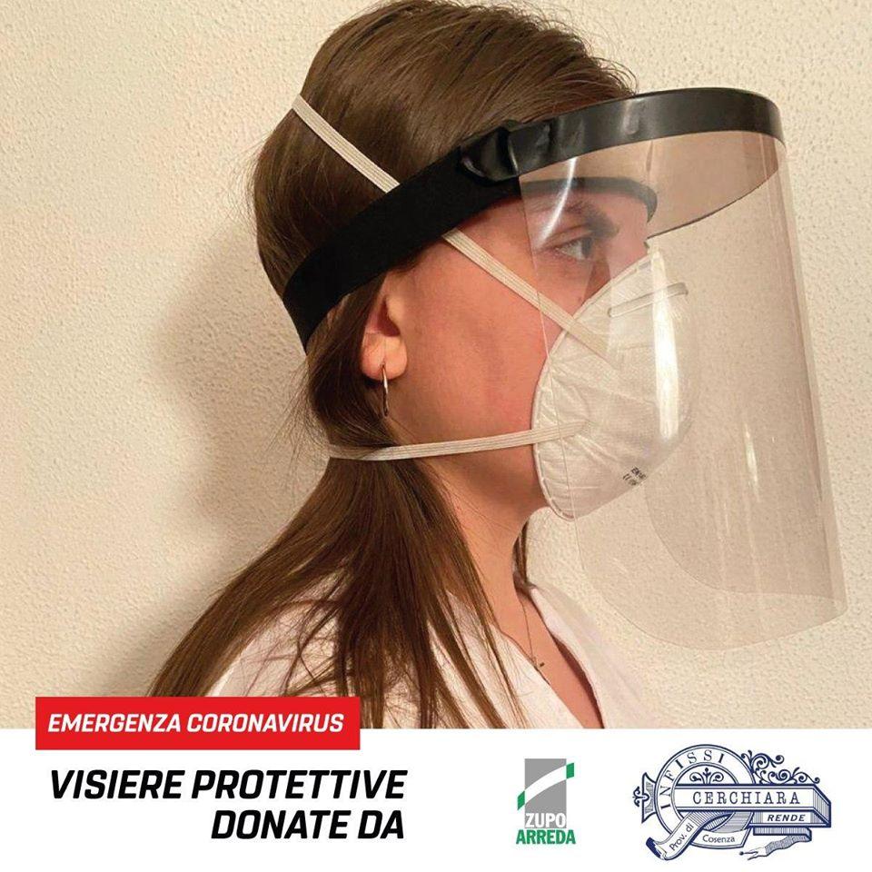Visiere Modello anti contagio