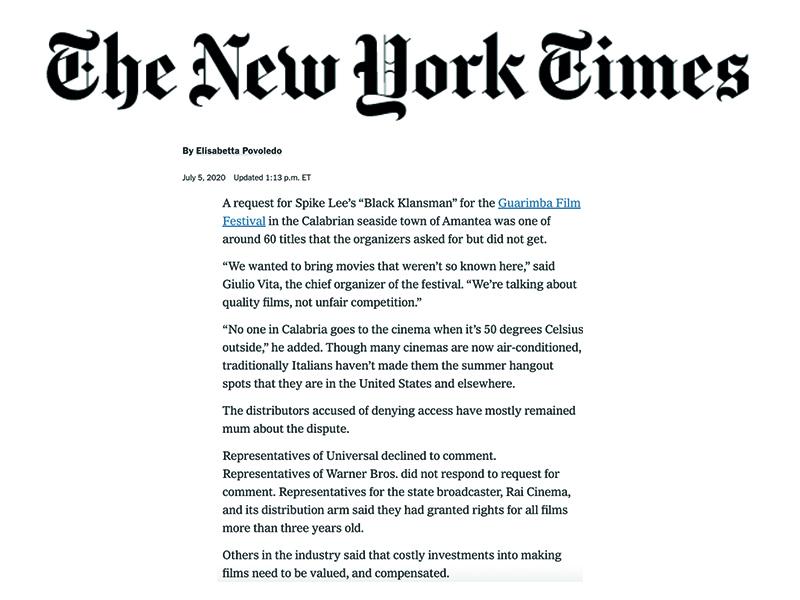 La Guarimba, articolo del New York Times