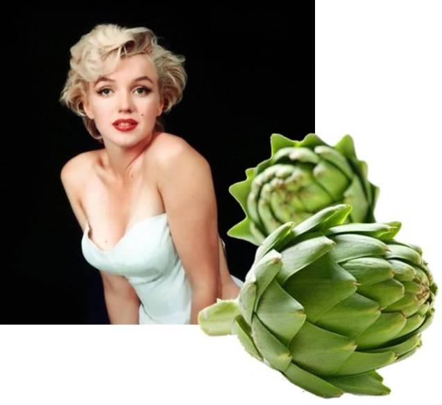 Marilyn Monroe e il carciofo