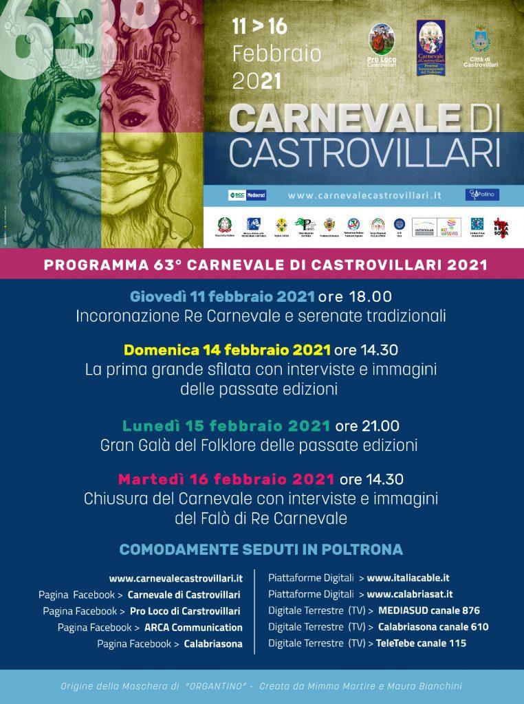 Carnevale di castrovillari Programma