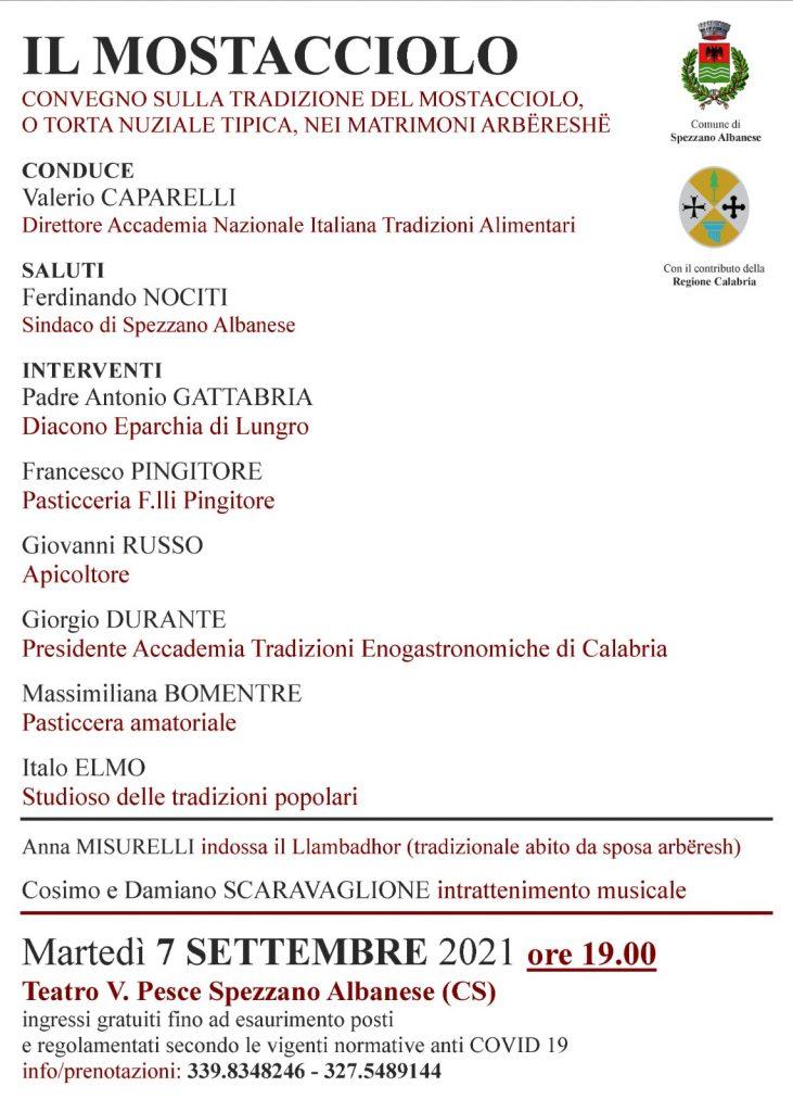 Locandina Invito Mostacciolo Di Spezzano Albanese