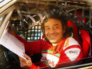 Gianluca Tassi a bordo della Ford nella dakar 2017