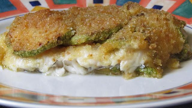 Pesce spatola e zucchine in parmigiana