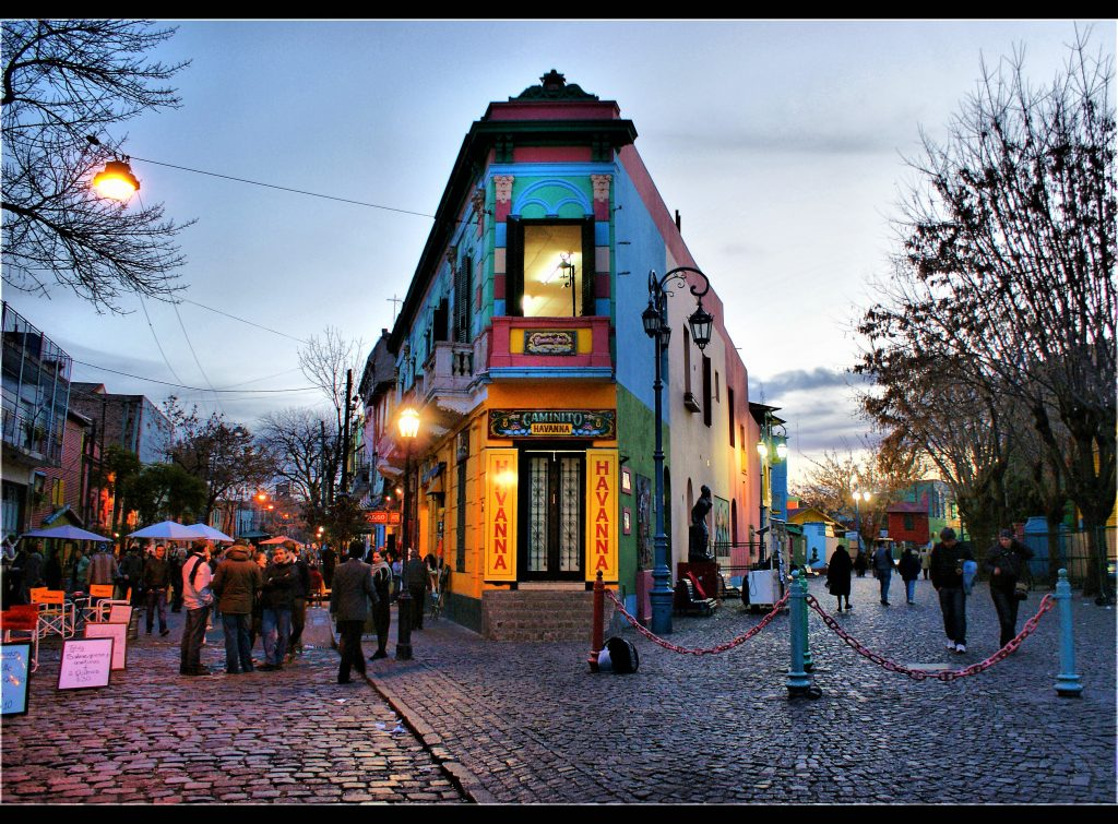 Storico quartiere Bueno Aires, città dove gioca il boca juniors