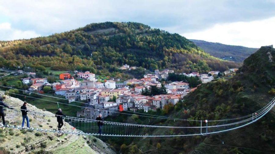 Un ponte tibetano nel cuore della Basilicata