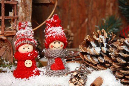 coppia di decorazioni natalizie