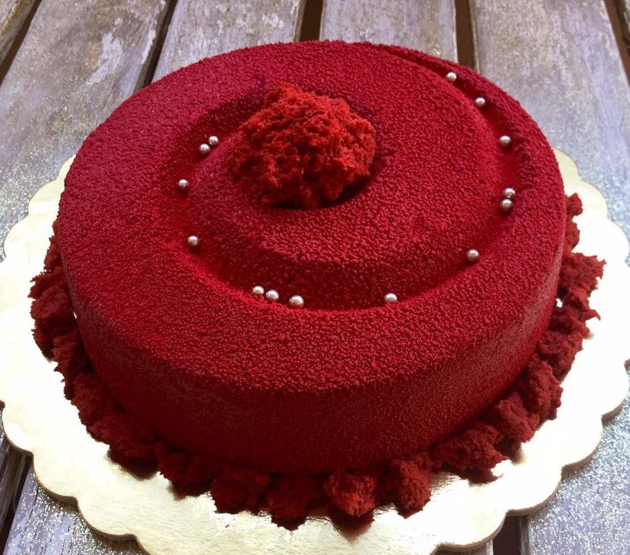 primo piano della torta vortice
