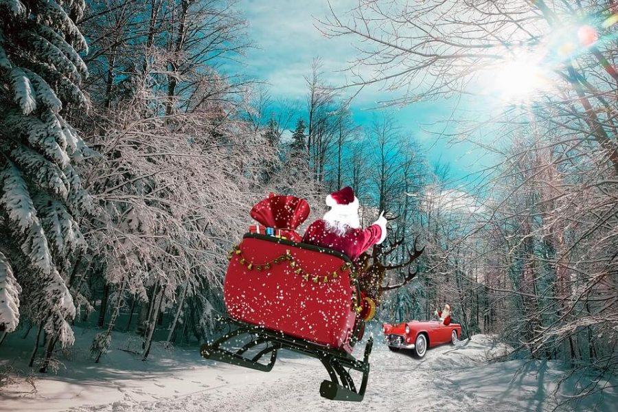 la tradizione del Natale: Babbo Natale porta i regali