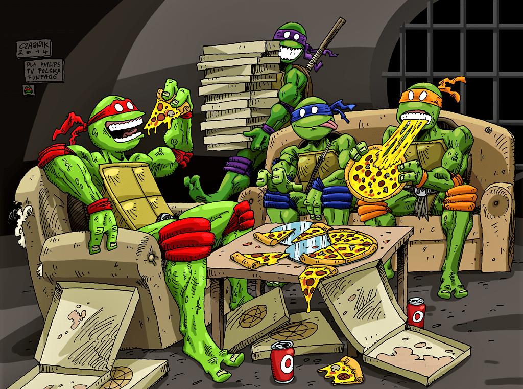 Le tartarughe ninja e la pizza