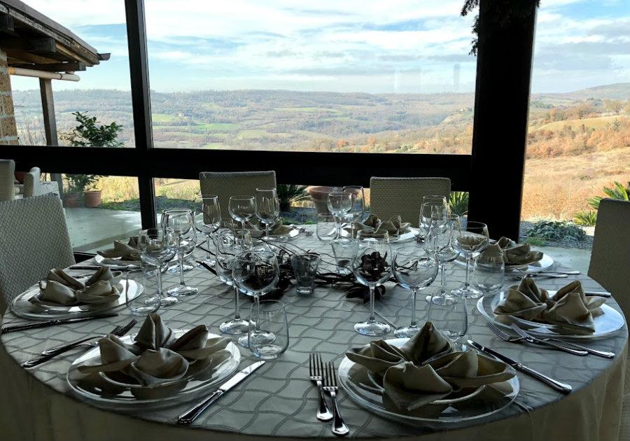 panorama dalla sala da pranzo