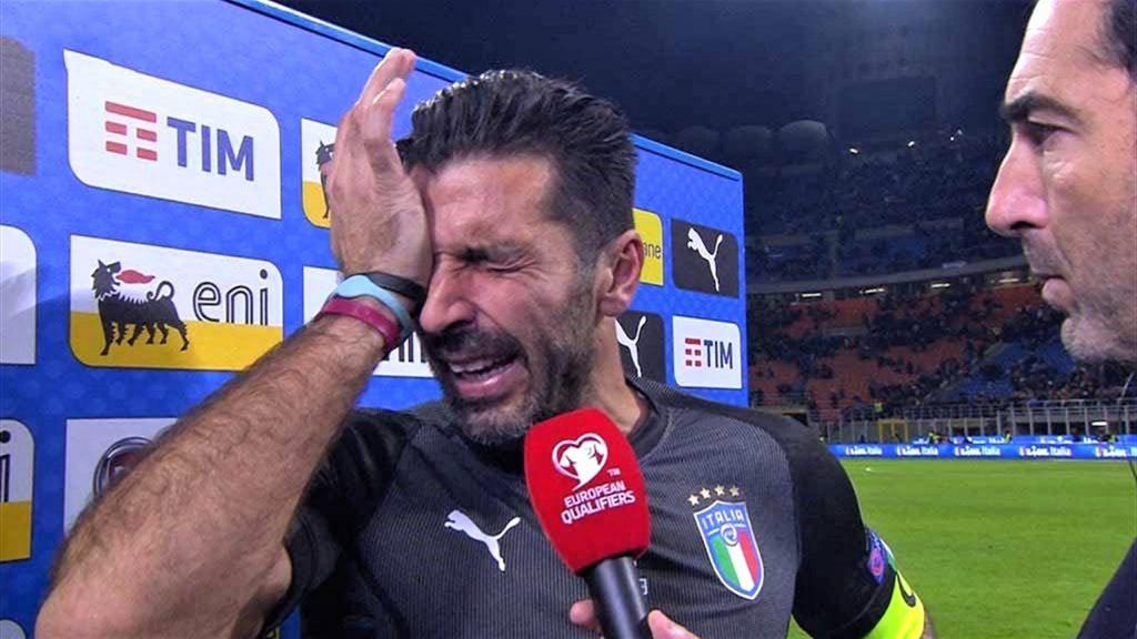 l'ultima apparizione di azzurro di Buffon
