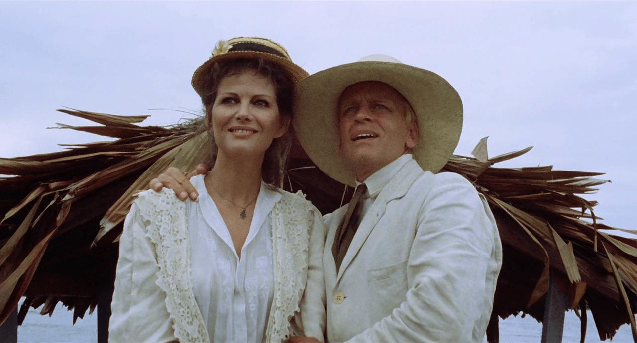 Claudia Cardinale e l'attore Klaus Kinski