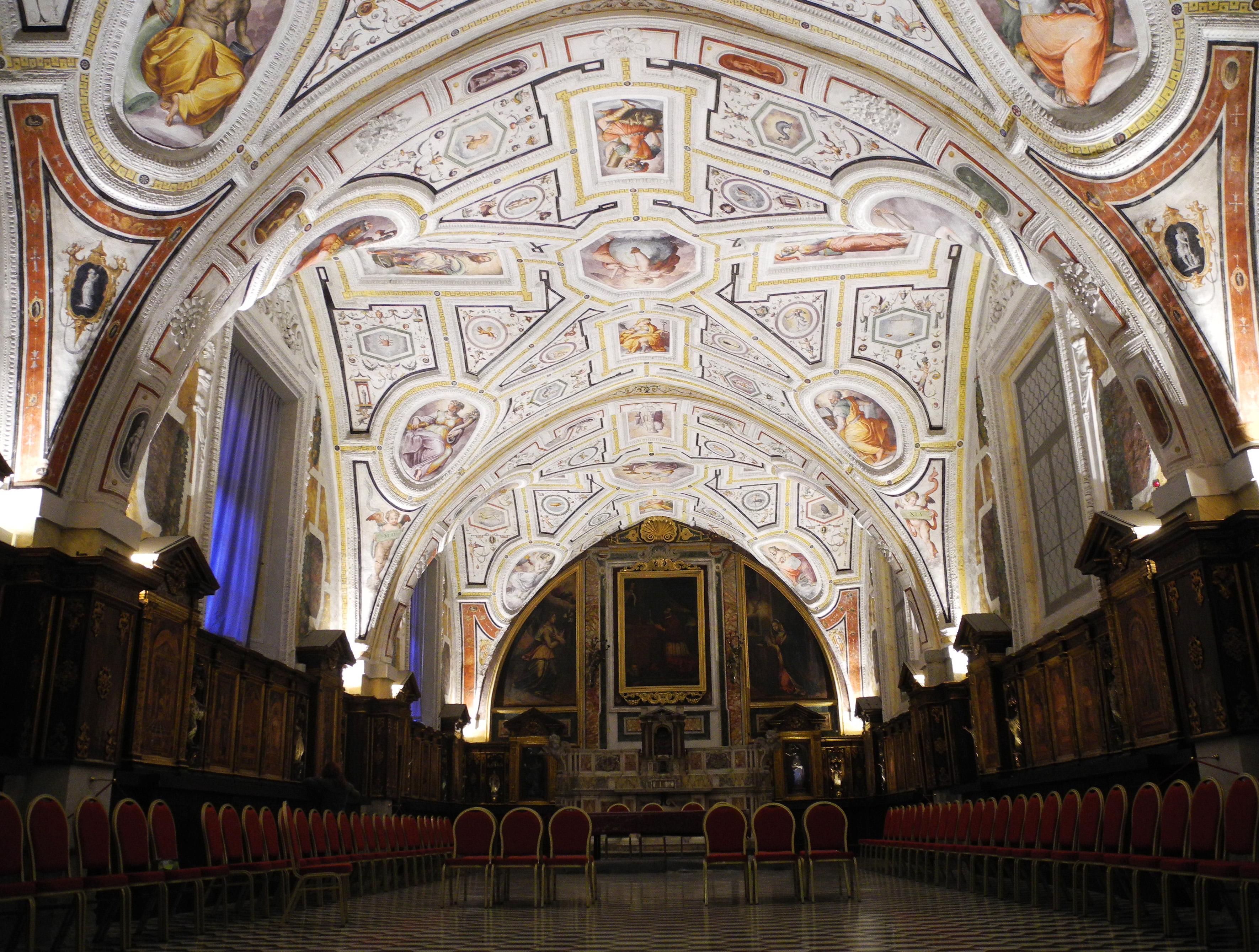 La Sagrestia Vecchia, con la volta del Vasari