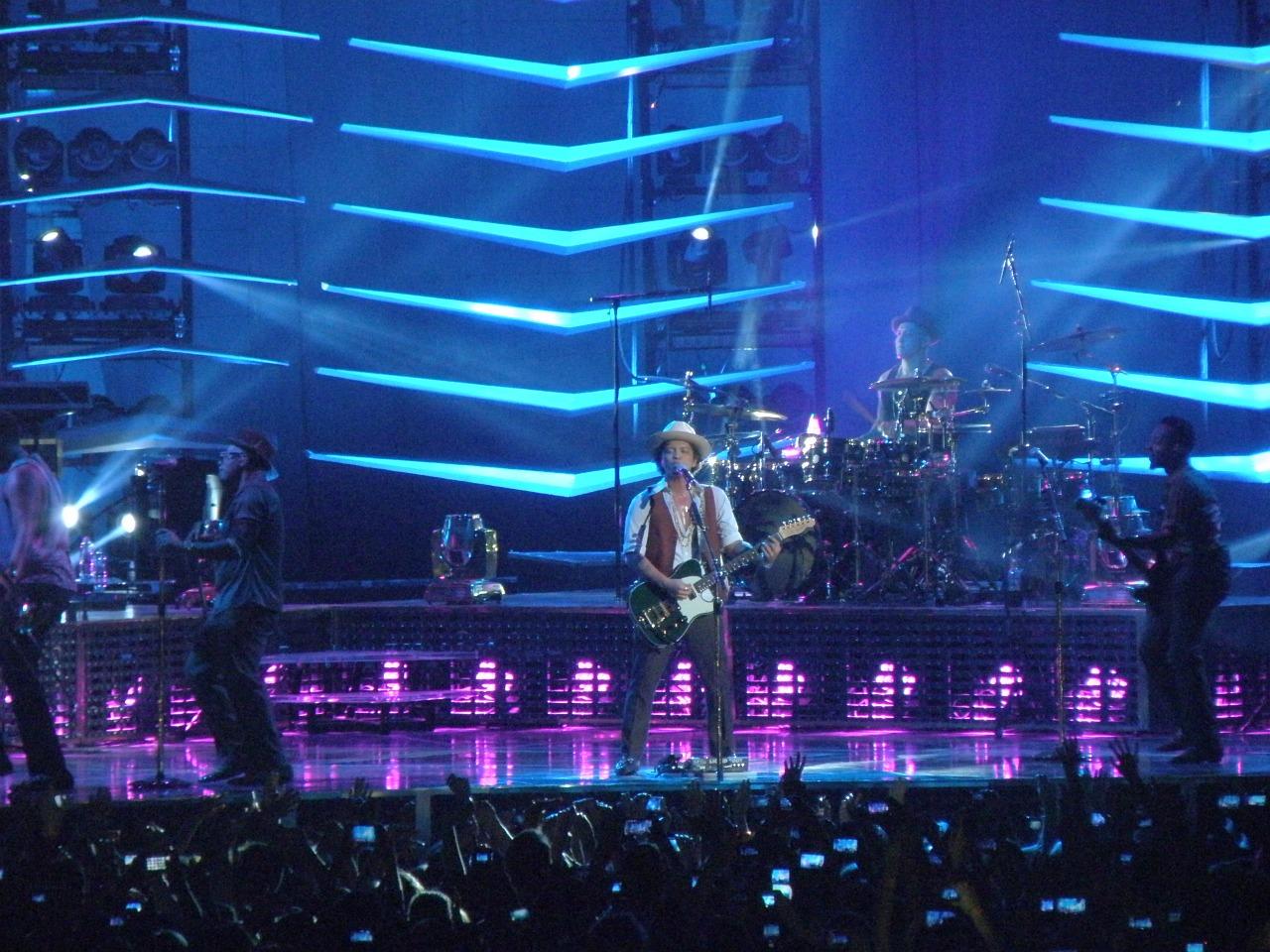 Esibizione di Bruno Mars