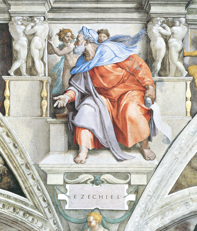 Il profeta Ezechiele, opera di Michelangelo