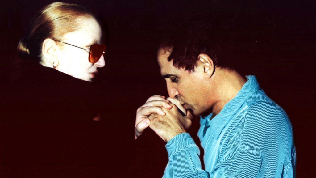 Mina con Adriano Celentano, suo compagno di dischi