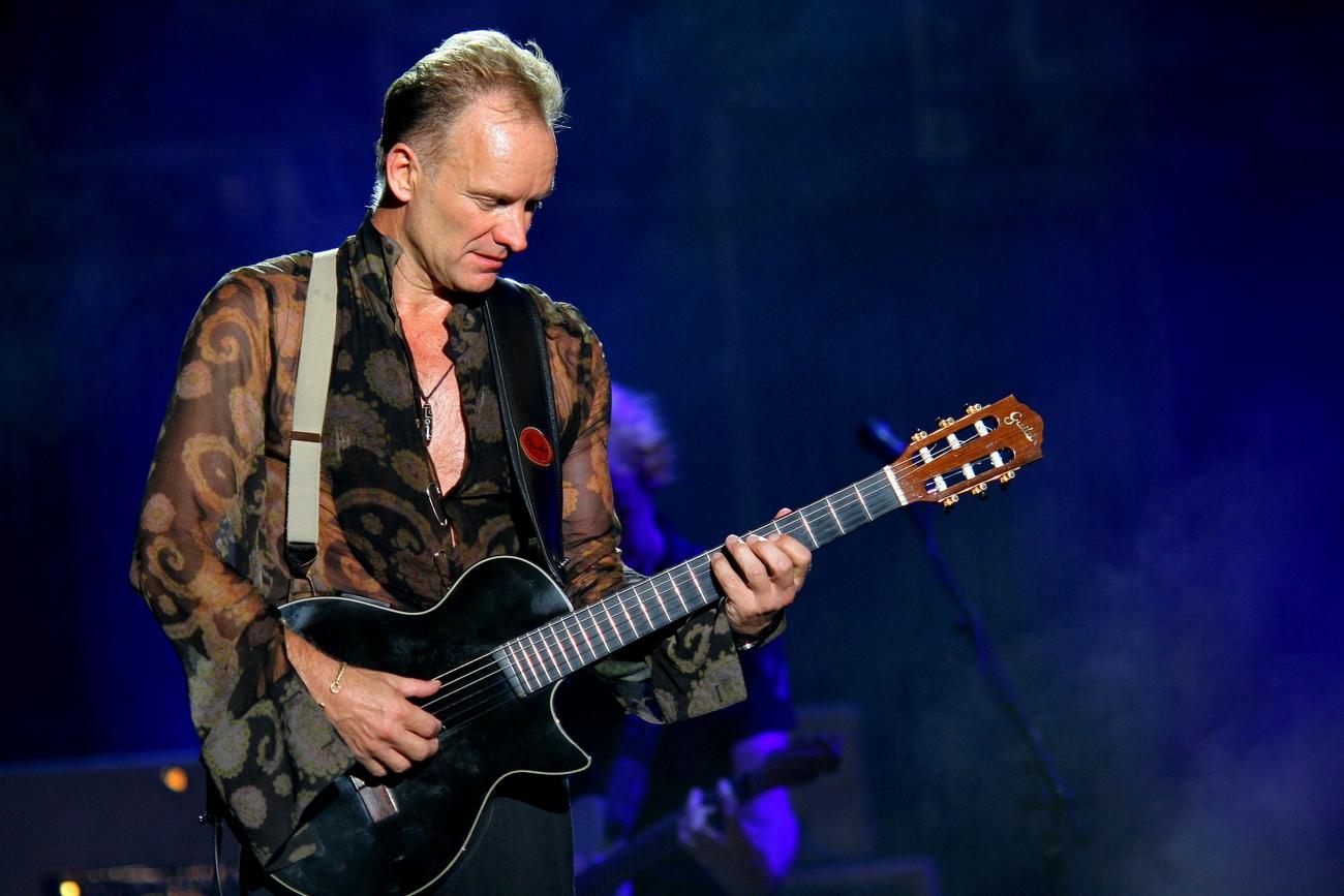 Il famoso cantante Sting
