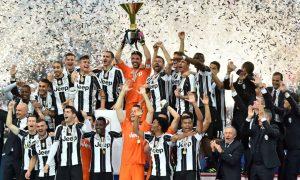 proclamazione vittoria coppa Italia Juventus