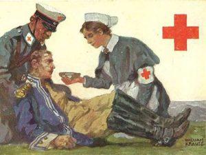 croce rossa al lavoro