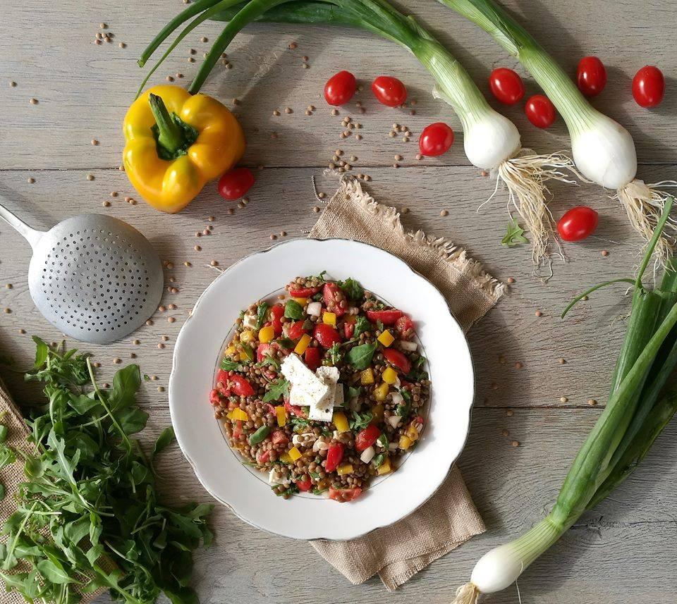 insalata fredda di legumi