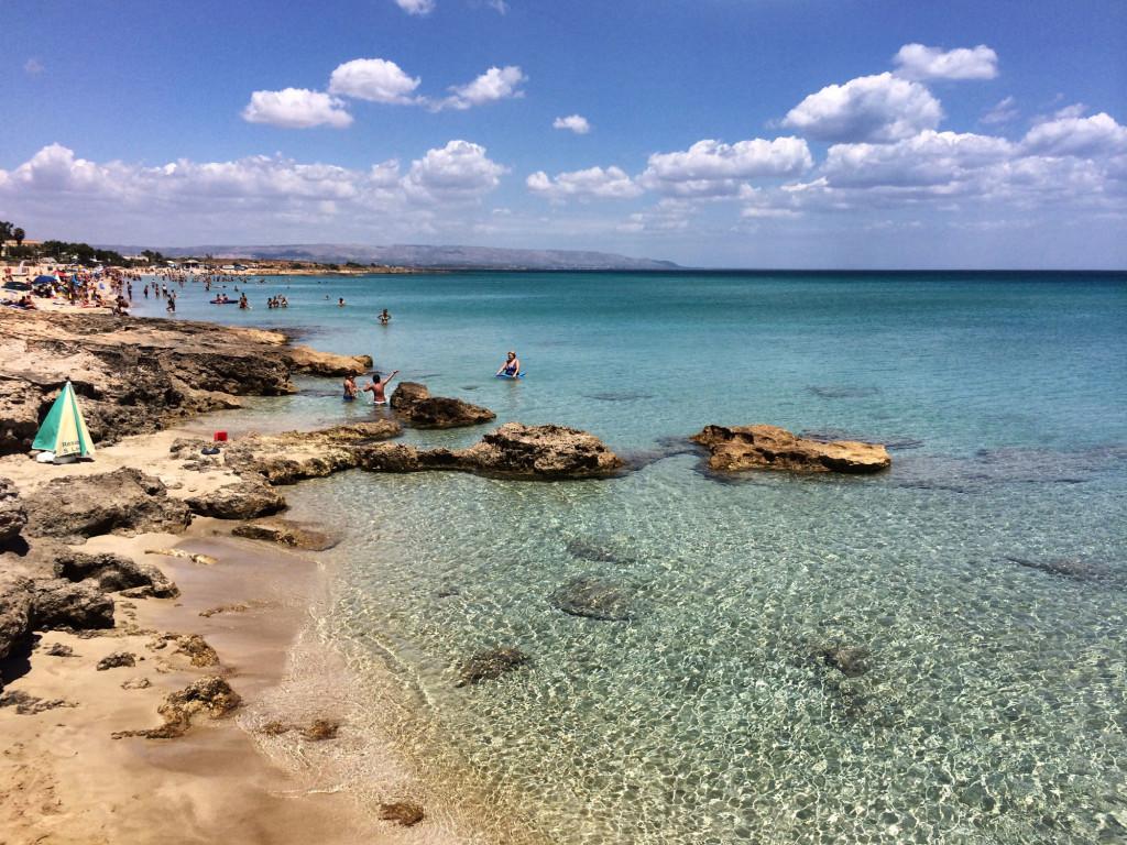 festival del cinema di Marzamemi - La splendida spiaggia di San Lorenzo, a Marzamemi