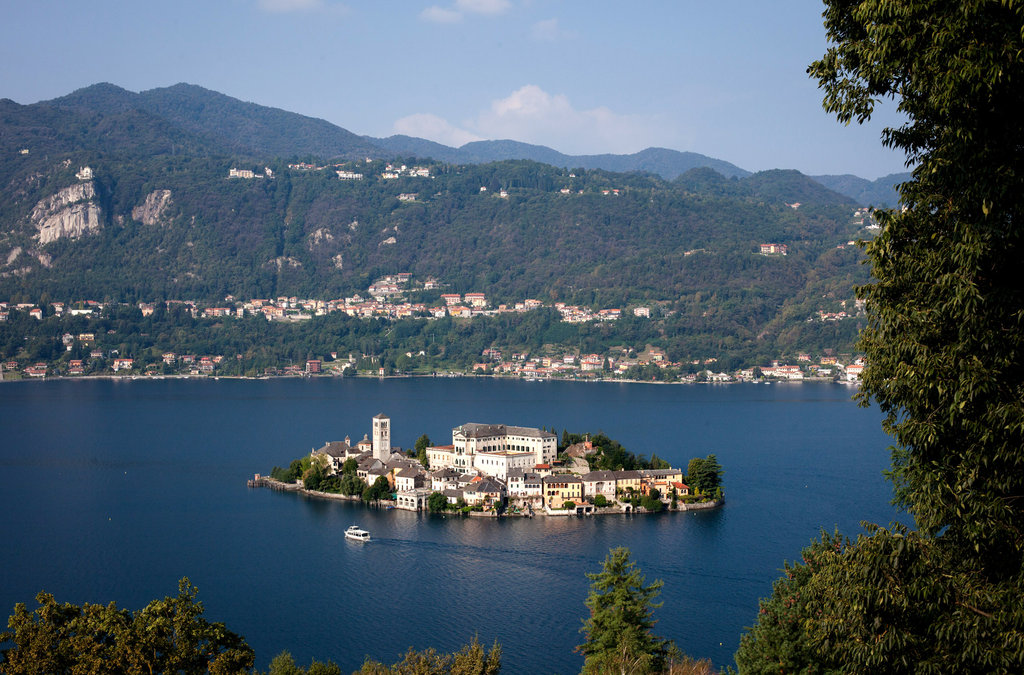 Lago d'Orta - Veduta aerea del fantastico Lago d'Orta