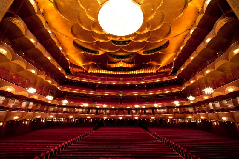 L'auditorium del Metropolitan Opera House a New York