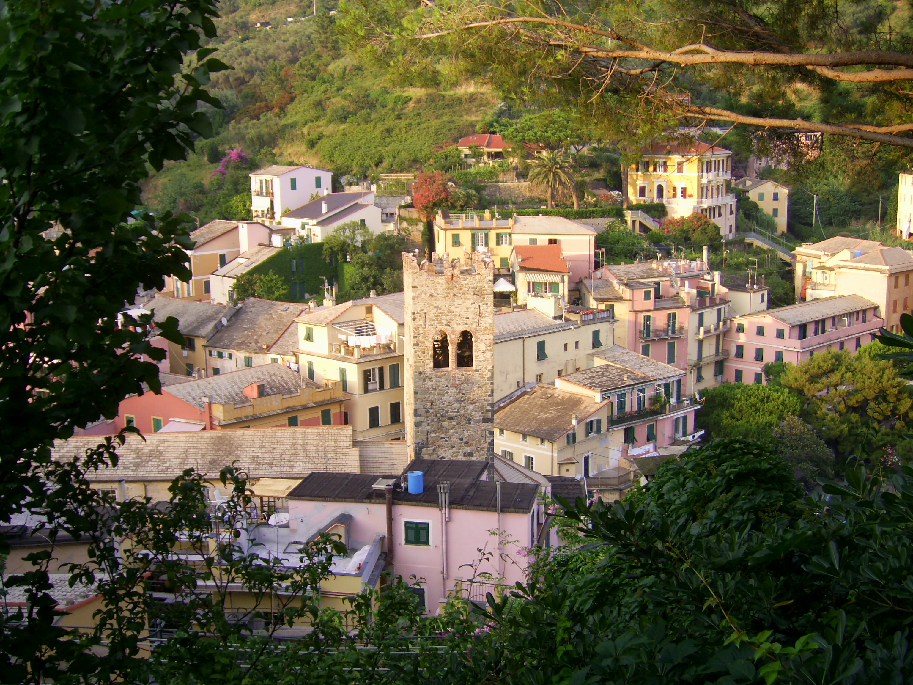 view of the village of Monterosso