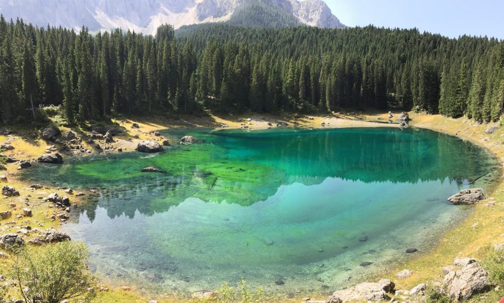 The colorful shades of Lake Carezza