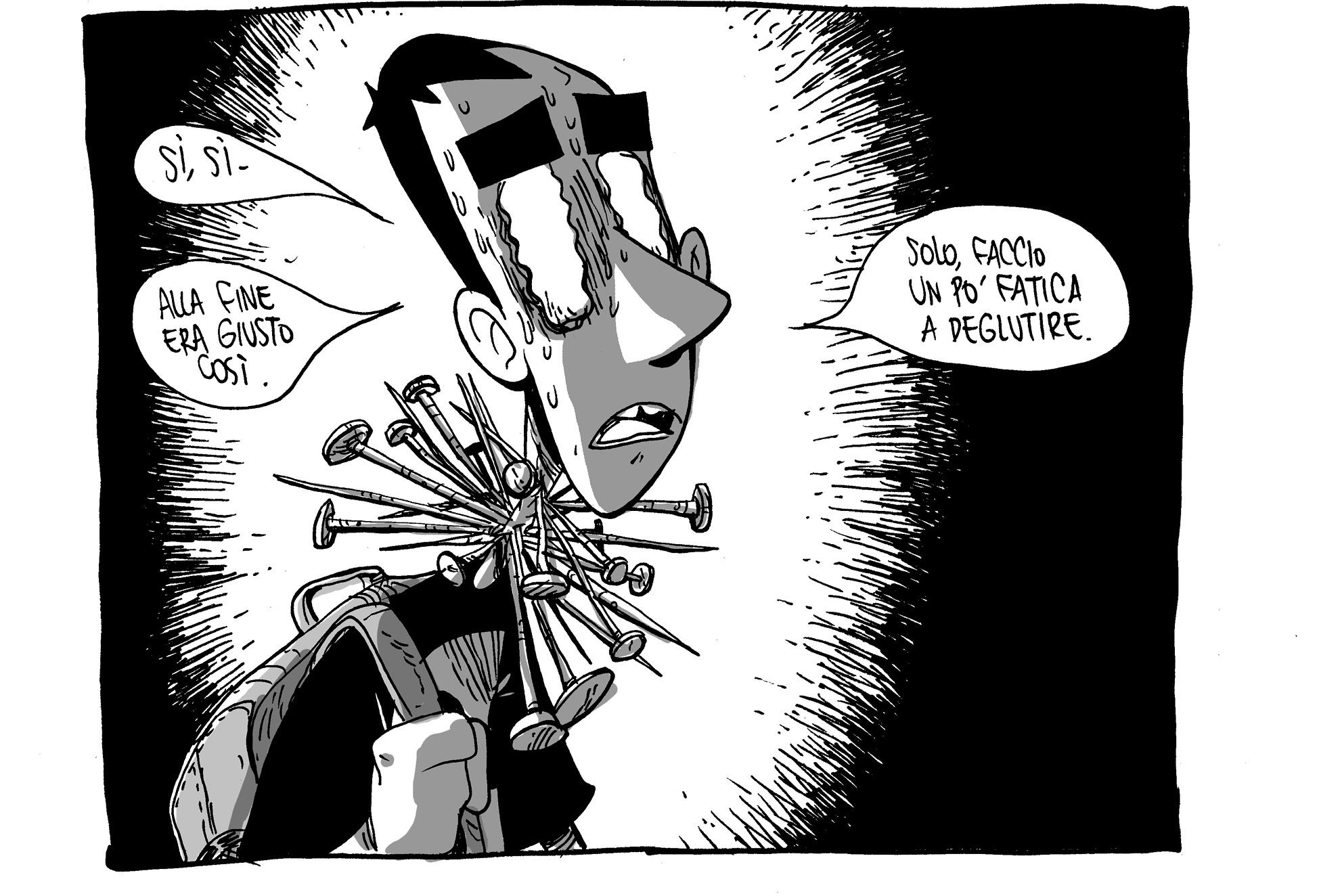 Lucca Comics 2018 - Uno disegno tratto da Materie Prime di Zerocalcare