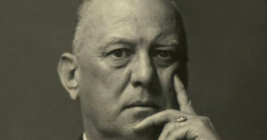 Aleister Crowley, British exoterist, guest at the villa