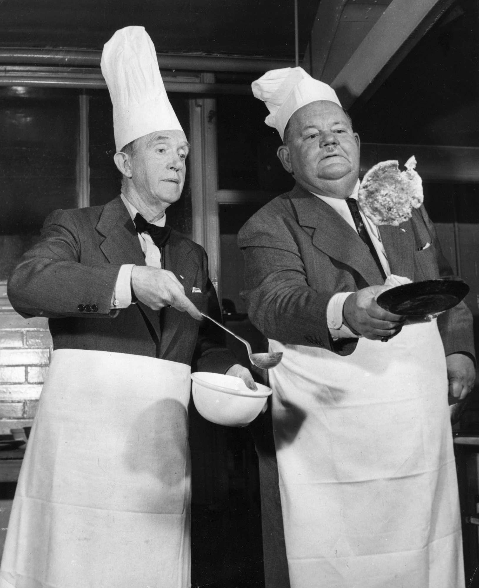 cucina italiana - Stanlio e Ollio cuochi
