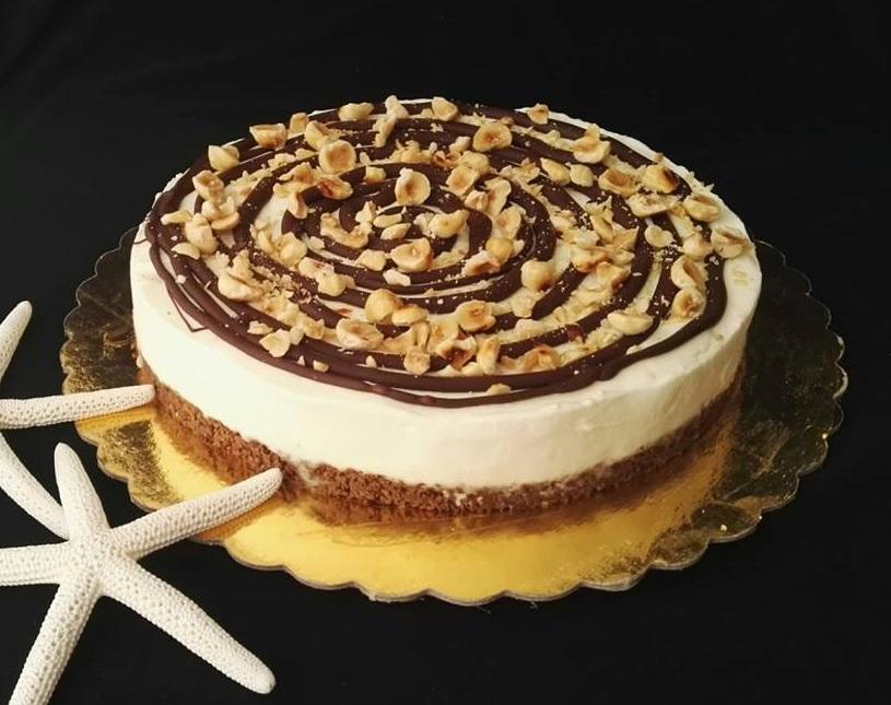 Cheesecake cornetto cuore di panna