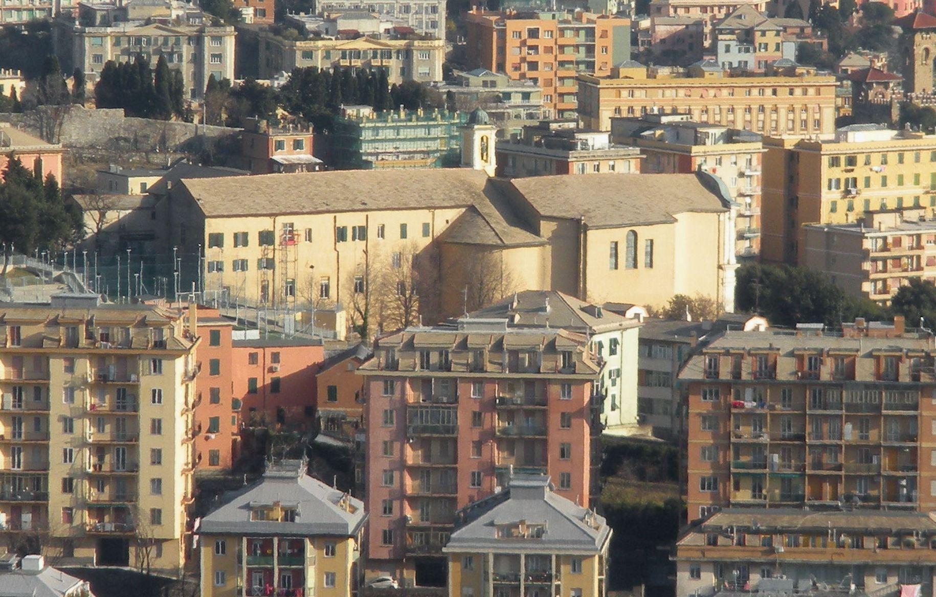 Inno - Il quartiere genovese di Oregina, dove ebbe luogo la prima esecuzione dell'Inno nel 1847