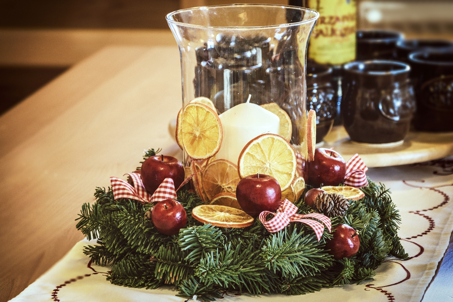 tavola delle feste natalizie